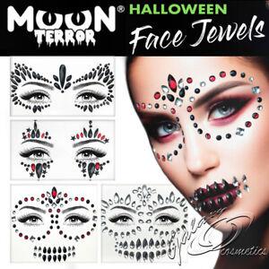 Moon Terror Halloween Face Jewels Stick On Self Adhesive Diamonds Gems