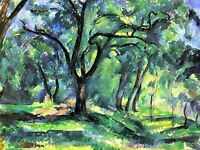 PAUL CEZANNE IN WOODS OLD MASTER ART PAINTING PRINT POSTER 2066OMA
