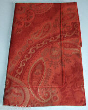 Sferra Miretta Boudoir Sham Cayenne Red Egyptian Cotton Sateen Jacquard New