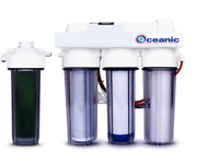 Oceanic 5 Stage RODI Aquarium Reef Reverse Osmosis Water Filtration System 0 TDS