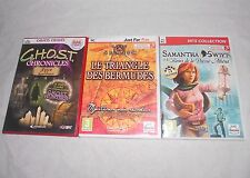 Lot 3 jeux PC GHOST/Triangle BERMUDES/SAMANTHA SWIFT aventure/objets cachés
