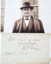 William Jennings Bryan 41st United States Secretary State Autograph           #1
