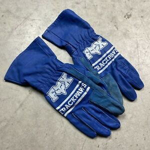 NOS Vintage 1980's Fox Racing Trackpaws Flat Track Racing Gloves 8 - motocross