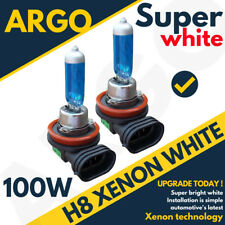 2 X H8 708 100W SUPER BRIGHT WHITE XENON HEADLIGHT FRONT FOG DRL BULBS LAMP 12V