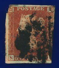 1841 SG8 1d Red Brown 3-Margin B1(1) Spacefiller CV-FU £35 cagi