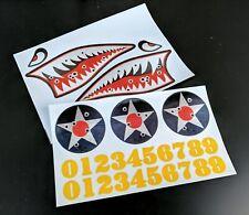 1/10, 1/8 RC Flying Shark Sticker Sheet, For Body Shell, Drift Car Decals