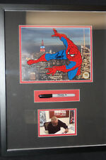 Marvel Spider-Man- Spidy Deluxe- Sericel Signed By Stan Lee Photo + Marker Used