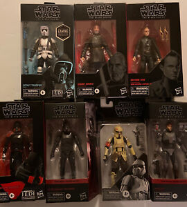 """Lot Of Star Wars Black Series 6"""" Action Figures Some Very Rare L👓K"""
