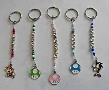 Kids Character NAME tag, keyring, bagtag. Personalised Mario, Sonic. School bag