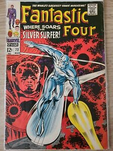 FANTASTIC FOUR #72 Silver Surfer The Watcher Kirby Marvel Silver Age 1968