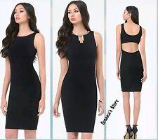 NWT BEBE Open Back Dress SIZE XXS Fabulous, curve-flattering power knit $113