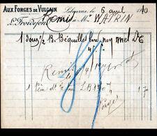 """LIBOURNE (33) QUINCAILLERIE / AUX FORGES DE VULCAIN """"L. FROIDEFOND"""" en 1910"""