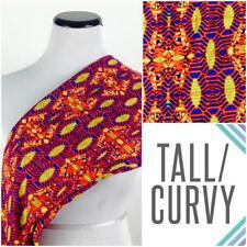 Lularoe TC Tall & Curvy Legging Blue Orange Yellow design NEW