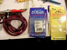 LOT OF AIR BRUSH PARTS, SUPPLIES AND EQ.  BAGER, PAASCH