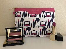 3-pc ESTEE LAUDER Makeup Set -PureColorEnvyBlush/Lipstick in CosmeticBag