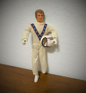 Vintage Ideal Evel Knievel Figure with Helmet and Suit 1973