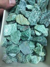 2lb Wholesale Rough Green Mica Fuschite  Natural Stones Bulk For Tumbling
