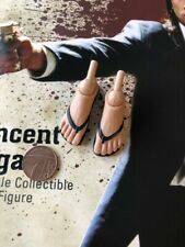 STAR ACE Vincent Vega Pulp Fiction Sandal Feet & Pegs loose 1/6th scale