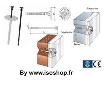 Cheville-clou pour fixation d'isolant VIS PVC de 10 x 260 mm  Lot de 100 pièces