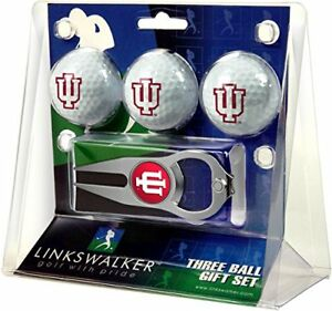 IU Indiana Hoosiers Hat Trick Divot Tool & Logo Golf Balls Gift Set