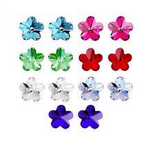 Forget-me-not Flower Swarovski Crystal Element Stud Earrings
