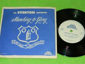 """THE EVERTON SUPPORTERS : Marching to glory EP - Orig 1978 UK 7"""" EP single VG 217"""