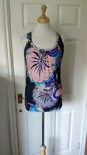 Ted Baker Sleeveless Graphic Print Top Size 10/2 *VGC*