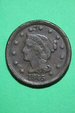 1845 Braided Hair Large Cent Exact Coin Pictured Flat Rate Shipping OCE356