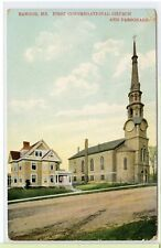 VINTAGE 1914 POSTCARD~ BANGOR, MAINE~ First Congregational Church and Parsonage