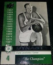 2008-09 UPPER DECK CLYDE LOVELLETTE BOSTON CELTICS CHAMPION 1959 DYNASTY CARD