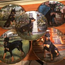 9 Danbury Mint Miniature Pinscher Plates (Part of the collection)