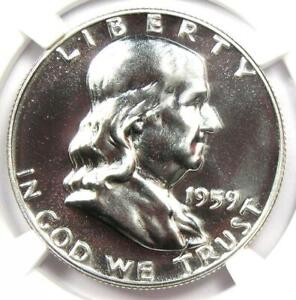 1959 PROOF Franklin Half Dollar 50C Coin - NGC PR69 (PF69) - $925 Value!