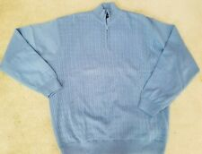 Scottish Winds Hibrid Lined Golf Sweater Windbreaker Sz XL Blue Long Sleeve