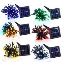 100 LED Solar Power String Light Outdoor Garden Christmas Party Decor Lamp Fairy