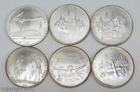 Coin Münze 5 Rubel 6 St. Olympiade Moskau 900 Silber 1980 Reiter Turner Städte