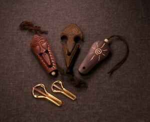 Jew's harp jaw/mouth harp munnharpe khomus maultrommel Potkin from Altai cases