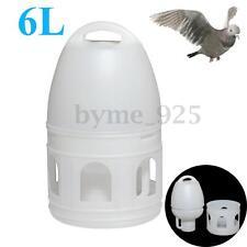 Us 6L 6000Ml White Plastic Removeble Drinker + Handle For Pigeons Birds Supplies