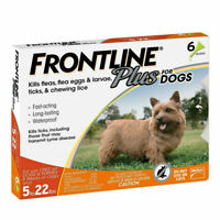 6 Doses Frontline Plus Flea and Tick Treatment Control for Small Dog(5-22 lbs)