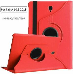 """For Samsung Galaxy Tab A 10.5"""" Leather 360 Rotating Case Flip Smart Cover Stand"""