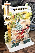 Beautiful 3D MERRY CHRISTMAS CARD Standing Display MINT/FACTORY SEALED Shackman
