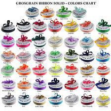 "Grosgrain Ribbon 50 Yards Roll 1/4"", 3/8"", 5/8"", 7/8"", 1.5""  Bulk 40 Colors Ava."