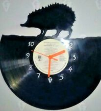 Hedgehog themed record clock