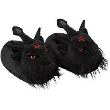 Killstar Gothic Okkult Plüsch Pantoffeln Hausschuhe - Dark Lord Baphomet