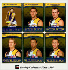 2010 AFL Teamcoach Trading Card Silver Parallel Team set West Coast (13)