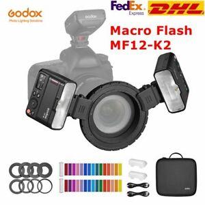 DHL Godox MF12 K2 Macro Flash 2-Light Kit 2.4GHz Wireless Control for Nikon Sony