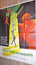 LE CHAT CROQUE LES DIAMANTS deadfall  ! michael caine affiche cinema 1968