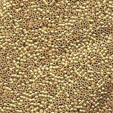 Metallic Matte Bright Yellow 24kt Gold Delica Miyuki 11/0 Seed Beads 7.2 Grams