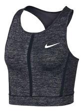 Nike Womens Pro HyperCool Crop Tank Top Shirt Heather Grey New
