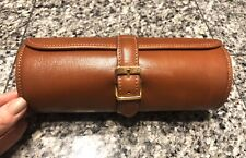 OTTINO Italy Brown Leather Roll On Watch Case
