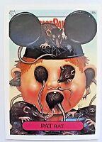 GARBAGE PAIL KIDS 18B PAT RAT STICKER CARD WITH FORGED GEORGE PIC GPK-41